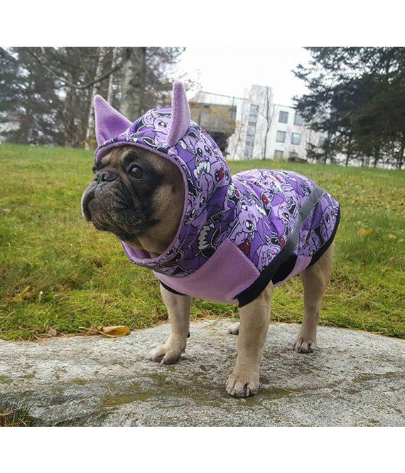 Lepakko huppari, violetti